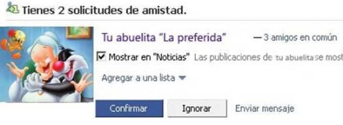 Opción Facebook